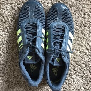 Adidas Navy and Green Tennis Shoes